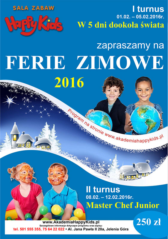 Ferie 2016 - Happy Kids Jelenia Góra